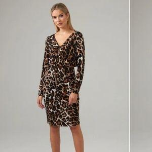 Joseph Ribkoff Leopard Animal Print Midi Dress New